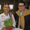 Organisator Johannes Dornhofer (li) und Sponsor Matthias Weber von Weber Schuhe