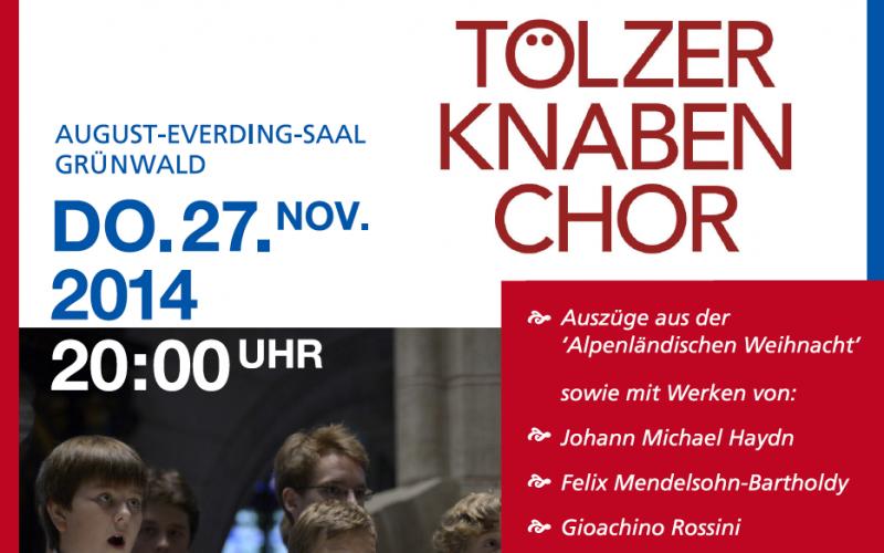 Tölzer Knabenchor: Benezfizkonzert des Rotary Club Grünwald
