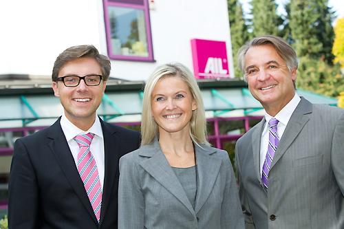Von links nach rechts: Christian Finke, Susanne Aigner, Peter Schiessl