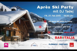 Vorankündigung: die grosse Bar Italia Aprés Ski Party