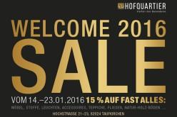 Welcome 2016 SALE bei Inneneinrichtung Kraft