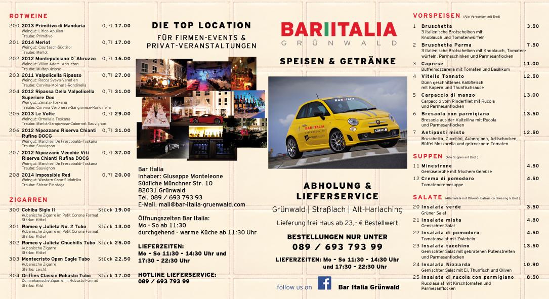 lieferservice bar italia