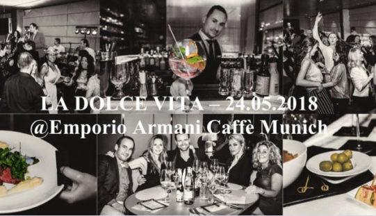 """EVENT: DInner and Dance """"LA DOLCE VITA"""" in den Fünf Höfen in München"""