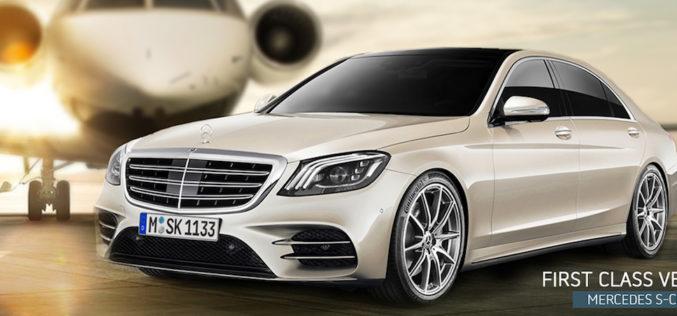 Ihr Premium Flughafentransfer mit Mercedes S-Klasse